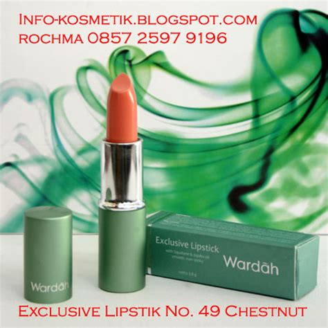 Lipstik Wardah Exclusive No 49 onliner exclusive lipstick wardah 0857 2597 9196