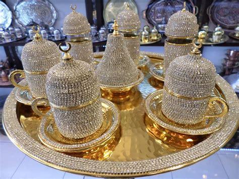 Handmade Copper Turkish Coffee Espresso Tea Zamzam Serving Set Swarovski Coated   eBay