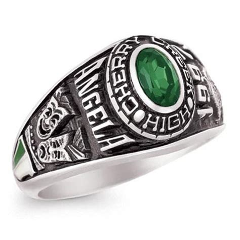 personalized class rings oval for