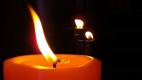 Burning Candles Flickering Candles Burning In The With From A
