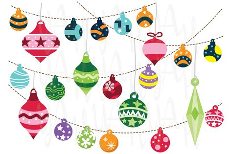 christmas ornaments illustrations on creative market