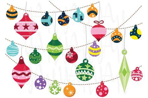 christmas ornaments illustrations on creative market