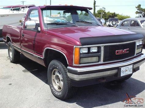 truck gmc 1988 gmc sierra sle 4x4 good work truck
