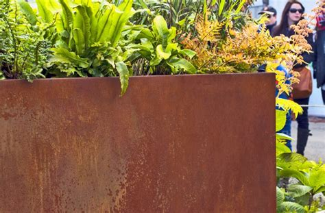 corten steel planter corten steel plant pots containers corten planters