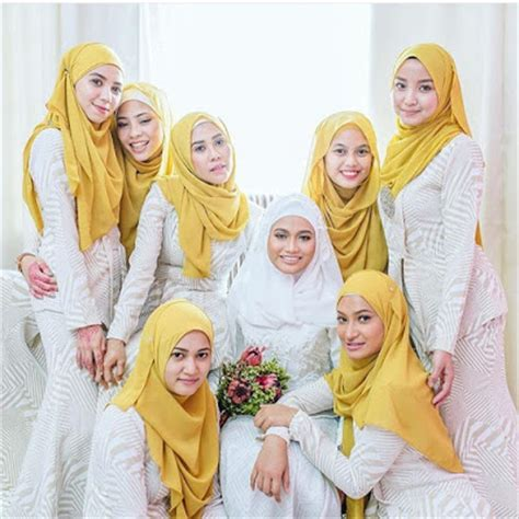 Jahit Baju Bridesmaid mimpi ke langit dulang bridesmaid