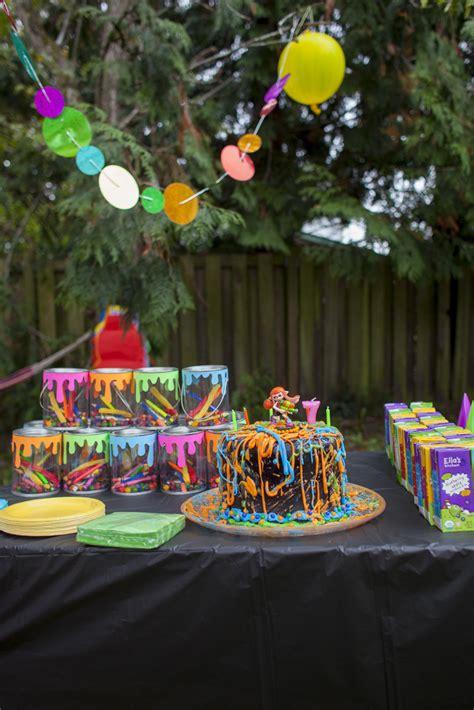 Outside Wedding Table Decorations Autumn S 7th Birthday Splatoon Party 187 Crystal Garcia