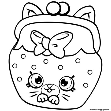 Shopkins Coloring Pages Of Petkins | petkins cat snout shopkins season 4 coloring pages printable