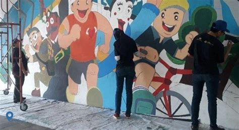 pelukis mural percantik terowongan jalan kendal