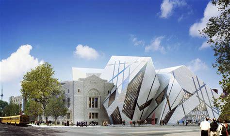 modern museum architecture compass map royal ontario museum toronto canada