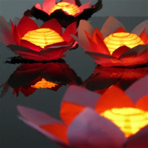 floating flower chinese water lanterns