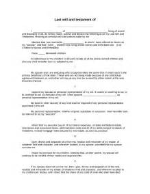 How To Write A Living Will Template by Free Printable Last Will And Testament Form Best