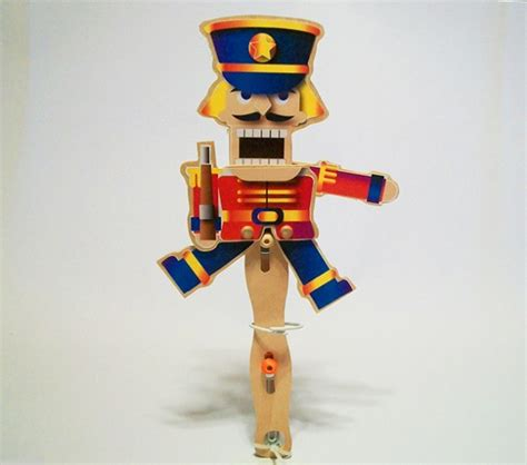 christmas wooden toy nutcracker soldier puppet aftcra