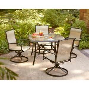 altamira tropical 5 piece patio dining set image