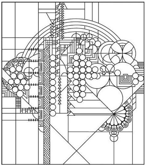 frank lloyd wright coloring pages