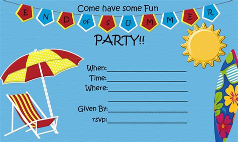 printable summer party decorations end of summer party free printable five little chefs