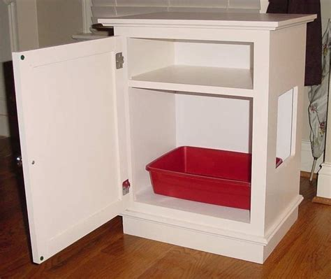 Litter Box Cabinet by Cat Litter Box Cabinet W Shelf Unpainted
