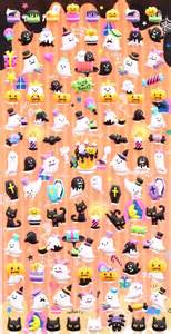 Cute Animal Mugs kawaii ghost halloween mini sponge stickers from japan