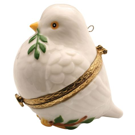 christmas tree ornament box peace dove ebay