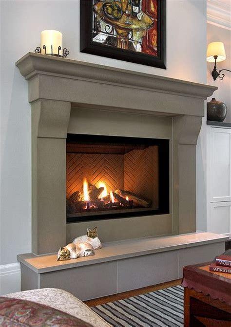 images  concrete mantels  pinterest mantels concrete fireplace  modern