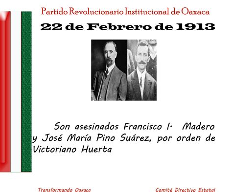 22 De Febrero De 1913 Asesinato De Don Francisco I Madero Y De | 22 de febrero de 1913 son asesinados francisco i madero