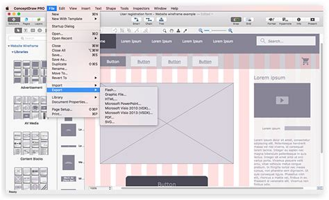 developing website wireframes conceptdraw helpdesk