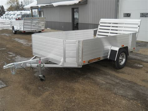with trailer 2013 aluma 7710h all aluminum non tilt utility trailer 98909