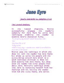 analysis of jane eyre chapter 10 jane eyre jane s character in chapters 5 10 the lowood