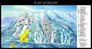 canada ski map lake louise alberta resort ski trail map