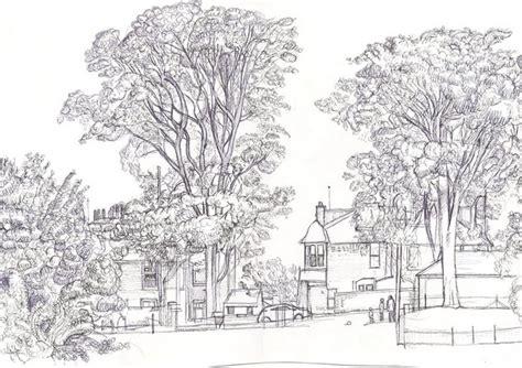 contoh lukisan sketsa pemandangan yang mudah ditiru atau digambar belajar bersama jesica