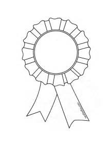 1st Prize Ribbon Template by Award Rosette Template Coloring Page