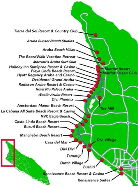 map of aruba hotels map of some resorts on aruba to check availability rates