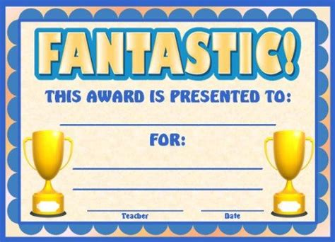 achievement award certificates student centered