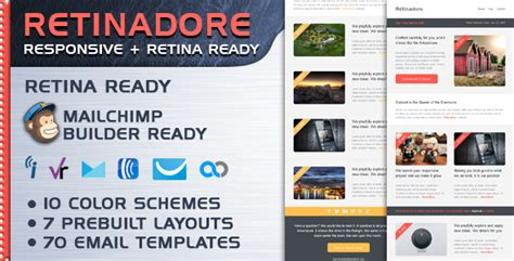 retinadore responsive email newsletter template by