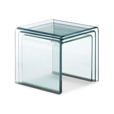 Clear Nesting Tables by Zuo Explorer Nesting Tables With Clear Glass 404104