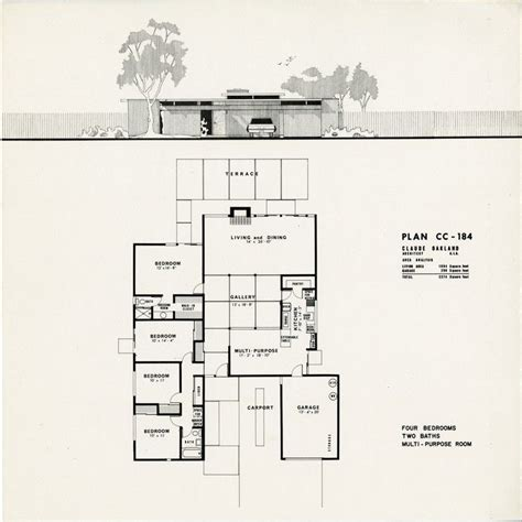 eichler homes floor plans eichler plan cc 184 claude oakland eichlers