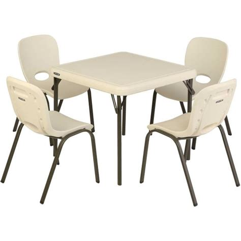 Childrens Folding Table And Chairs Lifetime 80437 Childrens Folding Table And 4 Stacking Chairs