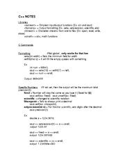 Cmpt 128 Course Outline by Cmpt128 C Exle Codes And Inputs C Notes Libraries