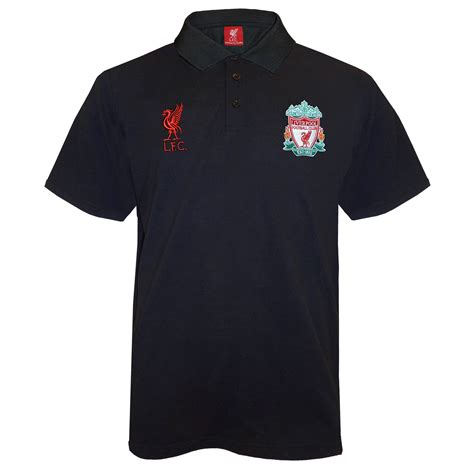 Exlus Polos Uk 21 11 3 Liverpool Fc Official Football Gift Mens Crest Polo Shirt