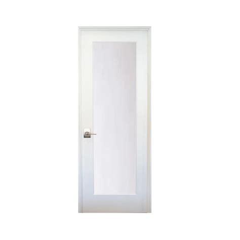 stile doors 36 in x 80 in 1 lite satin etch primed right