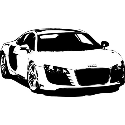 Auto Motor by Wandtattoo Audi R8 Auto Motor Sport 120cm 27 00