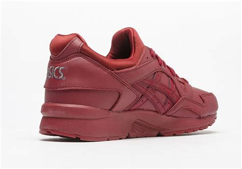 Asics Gel Lyte V Burgundy Sole Gum asics gel lyte v burgundy leather sneakerfiles