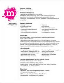 professional resume exle graphic design resume exle