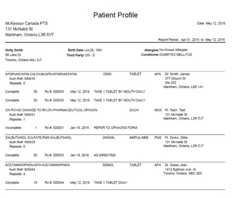 sle report of a patient medication profile template 28 images profile form