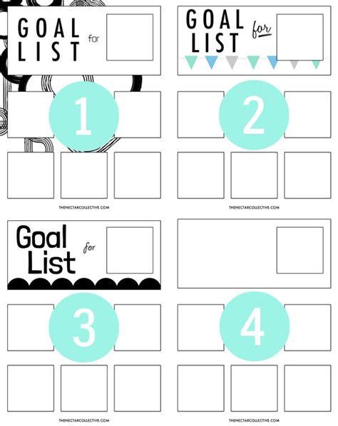 Free Printable Goal Poster | goal organizer poster free printable