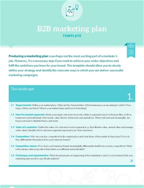 Template B2b Marketing Plan B2b Marketing B2b Marketing Plan Template