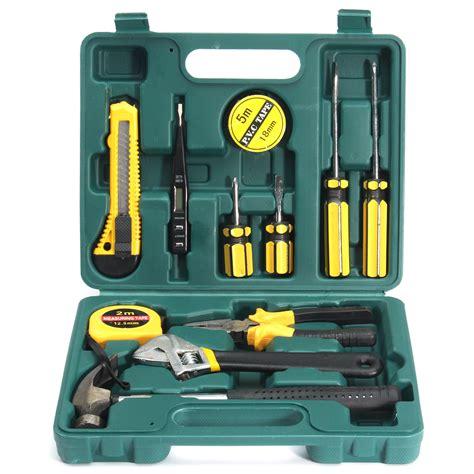 11pcs Basic Carry Tool Set Kit Home Repair Tool Set With 12pcs tech professional basic fix repair home tools set