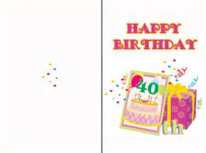 happy 40th birthday cards free printable 40th birthday cards