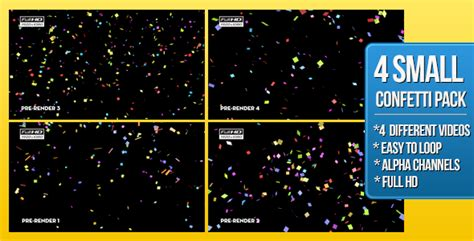 4 Confetti Small Pack By Boxmotion Videohive After Effects Confetti Template
