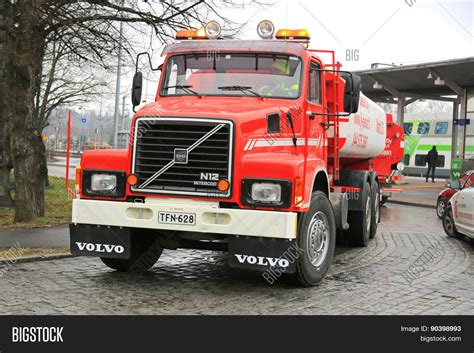old volvo trucks classic volvo n12 tank truck year image photo bigstock