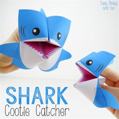 Arts And Crafts Made Out Of Paper - shark cootie catcher origami for easy peasy and